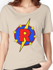 My Cute Little Super Hero - Letter R Women's Relaxed Fit T-Shirt