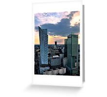 Cityscape in sunset Greeting Card