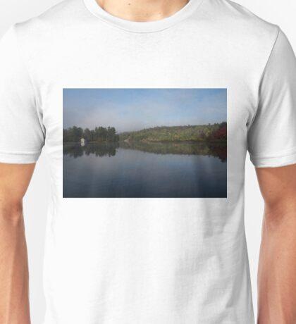 Lakeside Cottage Living - Gentle Morning Fog Unisex T-Shirt