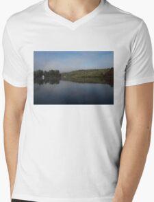 Lakeside Cottage Living - Gentle Morning Fog Mens V-Neck T-Shirt