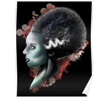 Bride of Frankenstein splatter Poster