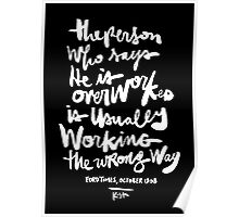 Overworked : BLK Poster