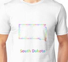 Rainbow South Dakota map Unisex T-Shirt