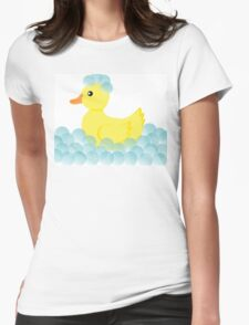 Rubber Ducky Bubbles Womens Fitted T-Shirt