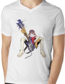FLCL fooly cooly anime Haruko Haruhara Mens V-Neck T-Shirt