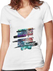 Vitriolic Women's Fitted V-Neck T-Shirt