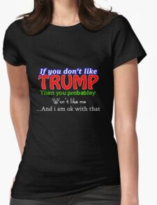 US Elections Donald Trump Fans Womens Fitted T-Shirt