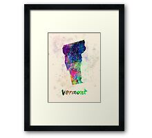 Vermont US state in watercolor Framed Print