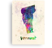 Vermont US state in watercolor Metal Print