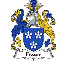 Fraser Coat of Arms / Fraser Family Crest Photographic Print