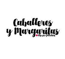 Caballeros y Margaritas Photographic Print