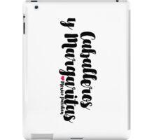 Caballeros y Margaritas iPad Case/Skin