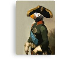 Emperor of Puffins - Anthropomorphic Composite Canvas Print