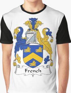 French Coat of Arms / French Family Crest Graphic T-Shirt