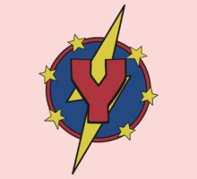 My Cute Little Super Hero - Letter Y Kids Tee