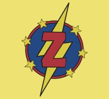 My Cute Little Super Hero - Letter Z Kids Tee