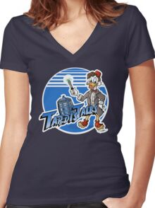 TARDIS Tales Women's Fitted V-Neck T-Shirt