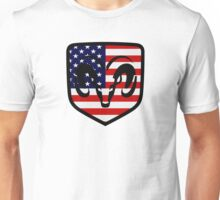 Dodge Ram Head American Flag Logo Unisex T-Shirt