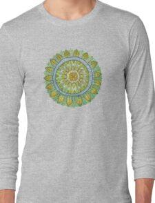 Green Leaves Mandala  Long Sleeve T-Shirt