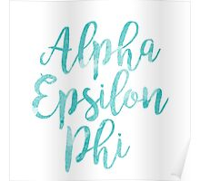 alpha epsilon phi aephi sorority sticker greek watercolor Poster