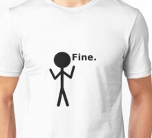 Fine Stick Figure Unisex T-Shirt