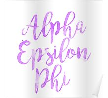 aephi alpha epsilon phi watercolor sorority sticker greek Poster