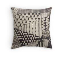Different Patterns Throw Pillow