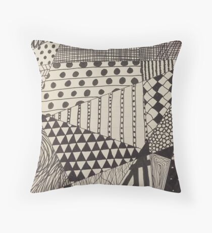 Different Patterns Throw Pillow