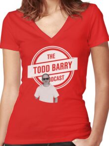 The Todd Barry Podcast T-Shirt Women's Fitted V-Neck T-Shirt