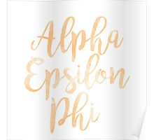 aephi alpha epsilon phi sorority sticker greek watercolor Poster
