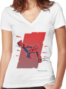 Spider-man Civil War Apparel Women's Fitted V-Neck T-Shirt