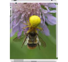 Crab spider (Misumena vatia) with a bumblebee iPad Case/Skin