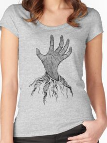 The creepy hand Women's Fitted Scoop T-Shirt