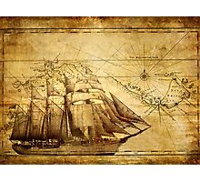 Old Map Photographic Print