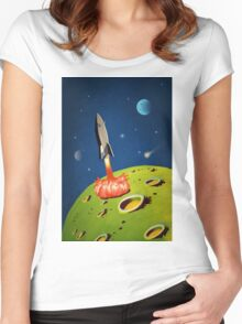 The World of Outer Space Travel Women's Fitted Scoop T-Shirt
