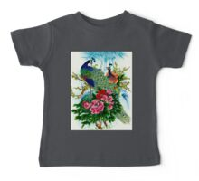 """PEACOCKS IN PARADISE: Art Deco Print Baby Tee"