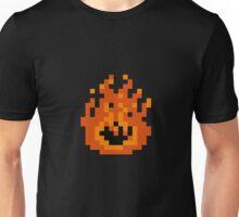 8 Bit Pixel Flame Unisex T-Shirt