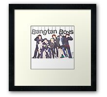 BANGTAN BOYS BTS SOUTH KOREAN Framed Print