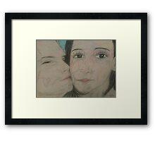 Love Kisses (Through time) Framed Print