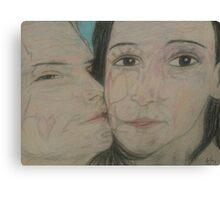 Love Kisses (Through time) Canvas Print