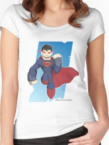 Superman Man of Steel Apparel Women's Fitted Scoop T-Shirt