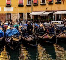 Bright Morning Gondolas - Bacino Orseolo, Venice, Italy Sticker