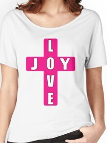 Pink Girly Love Joy Women's Relaxed Fit T-Shirt