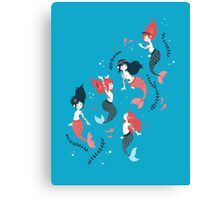 Tattooed Mermaids  Canvas Print