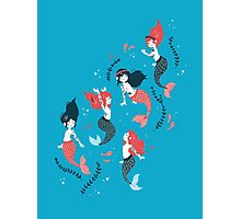 Tattooed Mermaids  Photographic Print