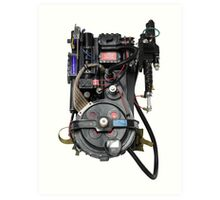 Classic Ghostbusters Proton Pack Art Print
