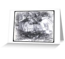 Historic Methodist Church Middleburg Florida Black History Artistic Unique Decor Greeting Card