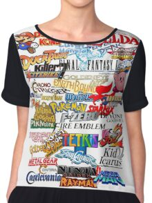 Retro Nintendo Titles  Chiffon Top
