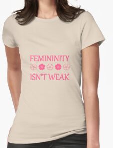 Femininity isn't weak Womens Fitted T-Shirt
