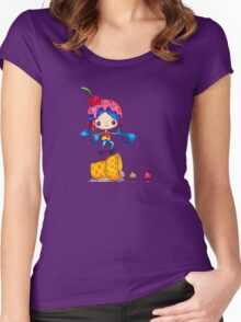 Skater Girl Ollies Over Ice Cream Cone Women's Fitted Scoop T-Shirt